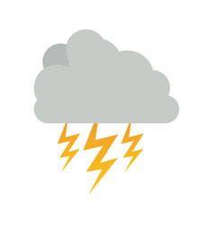 cumulus cloud with storm and thunder vector image
