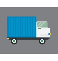 Delivery transport cargo logistic truck vector