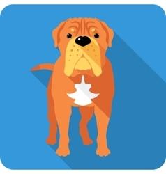 Dog french mastiff icon flat design vector