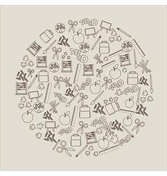 Elements school vector image