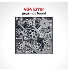 Error Page Design vector image vector image
