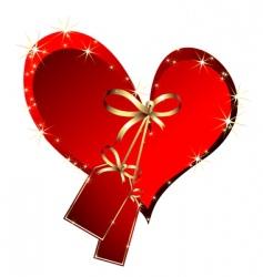 festive heart vector image vector image