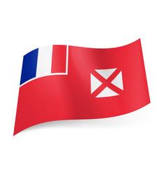 Flag of wallis and futuna french flag and white vector