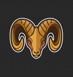 goat logo design template goat head icon vector image