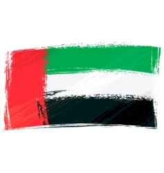 Grunge united arab emirates flag vector