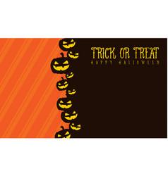 Halloween background pumpkin style vector