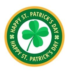Happy Saint Patricks day greeting card label vector image vector image