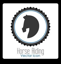 horse riding design vector image vector image