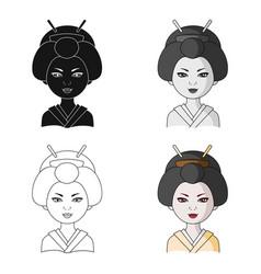japanesehuman race single icon in cartoon style vector image