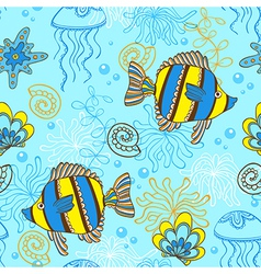 marine blue seamless vector image vector image