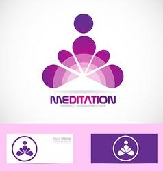 Meditation yoga zen logo vector