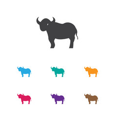 of zoology symbol on bull icon vector image vector image