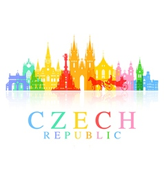 Prague Czech Republic vector image