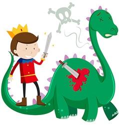 Prince killing green dragon vector