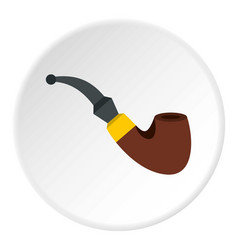 Smoking pipe icon circle vector