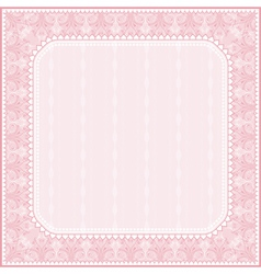 Square pink background with decorative ornaments vector