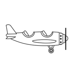 Airplane two cabin icon vector