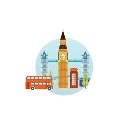 Flat design of london city modern building vector