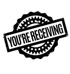You are receiving rubber stamp vector