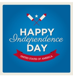Happy independence day usa card fonts vector