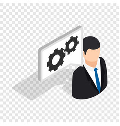 manager of car service center isometric icon vector image