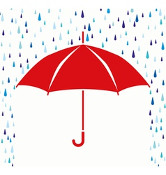 Umbrella protection from rain vector