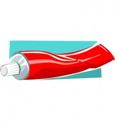 Toothpaste vector