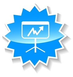 New chart blue icon vector
