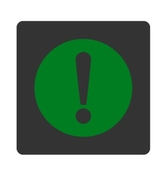 Problem flat green and gray colors rounded button vector