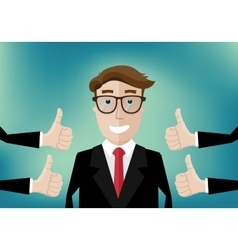 Success and thumbs up vector