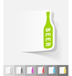 Realistic design element bottle of beer vector
