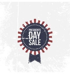Presidents day sale national label with text vector