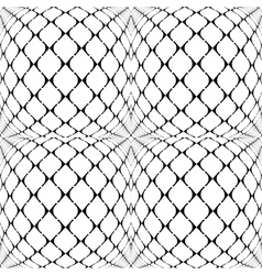Design seamless warped grid geometric pattern vector