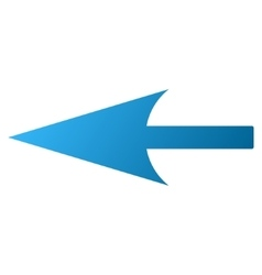 Sharp left arrow gradient icon vector
