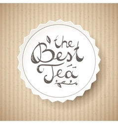 Best tea text vector