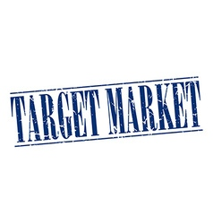 Target market blue grunge vintage stamp isolated vector