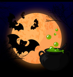 a scary halloween design vector image vector image