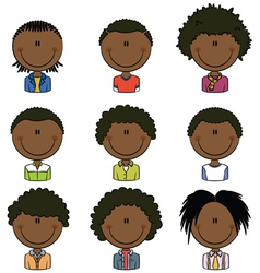 African American boys avatar vector image vector image