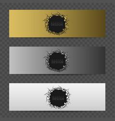 Banner design set vector