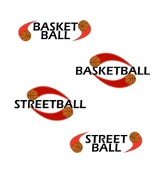 Basketball text for logo the team and the cup vector image vector image