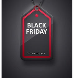 BLACK FRIDAY realistic sign eps 10 vector image