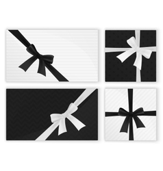 Black white fashion wrapped gift presents gifts vector