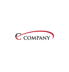 c letter swoosh logo vector image vector image
