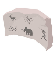 Cave painting icon isometric style vector