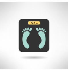 Digital scales with feet prints on it in modern vector