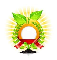 eoc green laurel wreath vector image vector image