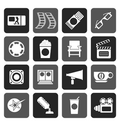 Flat Cinema and Movie vector image vector image