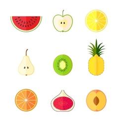 Flat fruits vector image vector image