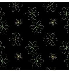 Flower chaotic seamless pattern vector image vector image