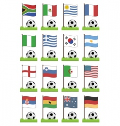 football flags vector image